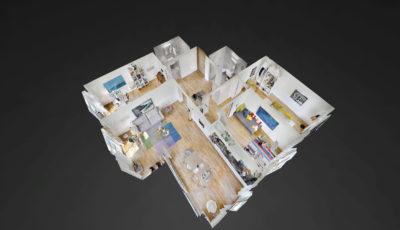 Mellingen Punkt 7 4.5 Zimmer-Muster-WHG 3D Model