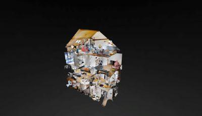 Doppeleinfamilienhaushälfte 3D Model