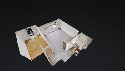 2.5 ZWG, 47m2, 4. OG – Rue du Praillon 9, 1920 Martigny 3D Model
