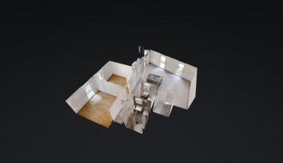 3.5 ZWG, 81m2, 2. OG – Rue du Praillon 3, 1920 Martigny 3D Model
