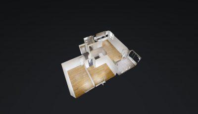 3.5 ZWG, 4. OG, 67.5m2 Haus C, C401 3D Model